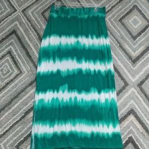 a.n.a Skirts - Tie Dye Maxi Petite Skirt